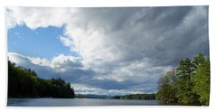 Beach Towel featuring the photograph Big Brooding Sky by Lynda Lehmann