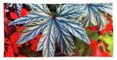 Big Exotic Leaves Beach Sheet