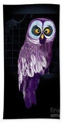 Big Eyed Owl Beach Towel
