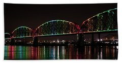 Beach Towel featuring the photograph Big Four Bridge 2215 by Andrea Silies