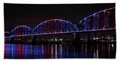 Beach Towel featuring the photograph Big Four Bridge 2217 by Andrea Silies