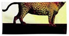 Big Game Africa - Leopard Beach Towel by Sadie Reneau