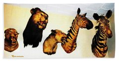 Big Game Africa - Zebras And Lions Beach Towel