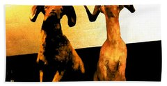 Big Game Canada - Fannin Sheep Beach Towel by Sadie Reneau