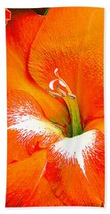 Big Glad In Bright Orange Beach Sheet