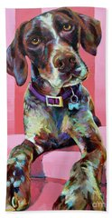 Big Hank, The German Short-haired Pointer Beach Towel