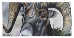 Big Horned Sheep Beach Towel