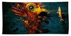 Beach Towel featuring the painting Big Hunter by Alexa Szlavics