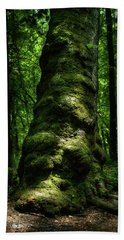Big Moody Tree In Forest Beach Towel