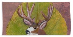 Big Mule Deer Buck Beach Towel
