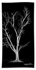 Big Old Leafless Tree Beach Sheet