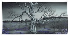 Beach Towel featuring the painting Big Old Tree by Kenneth Clarke