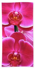 Big Orchids Beach Towel