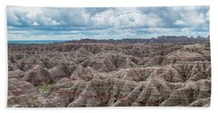 Beach Towel featuring the photograph Big Overlook Badlands National Park  by Kyle Hanson
