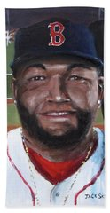 Beach Sheet featuring the painting Big Papi by Jack Skinner
