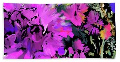 Big Pink Flower Beach Sheet