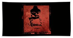 Beach Towel featuring the painting Big Red Buddha by Kandy Hurley