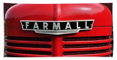 Big Red Farmall Beach Towel