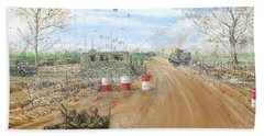 Big Red One Main Gate Di An Vietnam 1965 Beach Towel