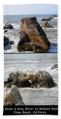 Beach Sheet featuring the photograph Big Rocks In Grey Water Duo by Barbara Snyder