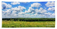 Beach Sheet featuring the photograph Big Sky -wisconsin -color by Ricky L Jones