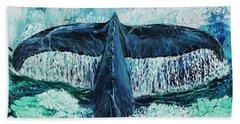 Beach Towel featuring the painting Big Splash On Maui by Darice Machel McGuire