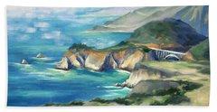 Big Sur Autumn Beach Towel