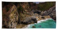 Big Sur Waterfall Beach Towel