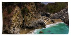 Big Sur Waterfall Beach Towel