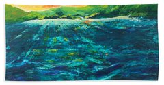 Big Tropical Wave Beach Towel