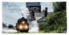 Beach Towel featuring the photograph Big Valley Steam by Brad Allen Fine Art