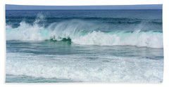 Beach Towel featuring the photograph Big Waves by Marion McCristall