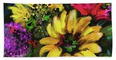 Big Yellow Flower Beach Sheet