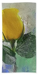 Big Yellow Beach Towel by Terry Foster