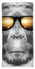 Beach Towel featuring the digital art Bigfoot In Shades by Phil Perkins
