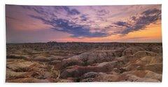 Bigfoot Overlook Sunset At Badlands South Dakota Beach Towel