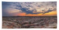 Bigfoot Overlook Sunset Panorama Beach Towel