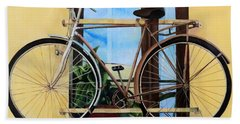 Bike In The Window Beach Towel