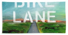 Bike Lane- Art By Linda Woods Beach Towel