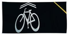 Bike Lane Symbol And Boundary Beach Towel