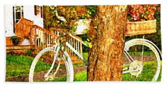 Bike With Flowers Beach Towel