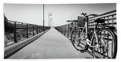 Bikes And Fences. Beach Towel