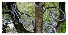 Bikes In A Tree Beach Sheet