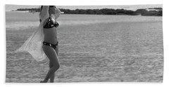 Bikini Girl Beach Towel by Kiran Joshi