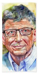 Bill Gates Portrait Beach Towel