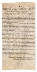 Bill Of Rights Beach Sheet