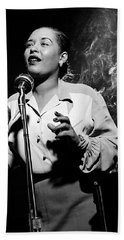 Billie Holiday  New York City Circa 1948 Beach Sheet by David Lee Guss