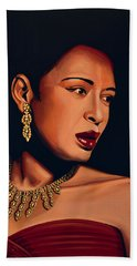 Billie Holiday Beach Towel