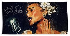 Billie Holiday Beach Sheet