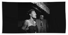 Billie Holiday William Gottlieb Photo New York City 1947 Beach Towel